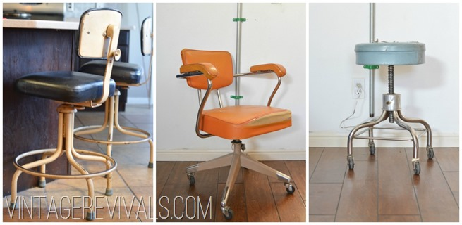 Metal Rolling Office Chairs and Stools
