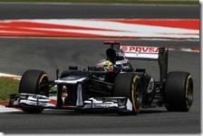 Maldonado conquista la pole del gran premio di Spagna 2012