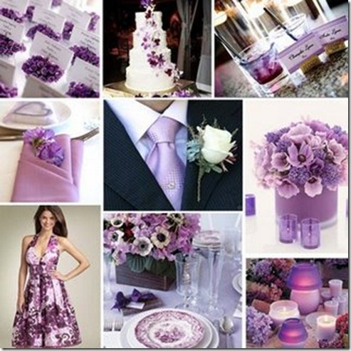 Lilac and purple wedding inspiration board