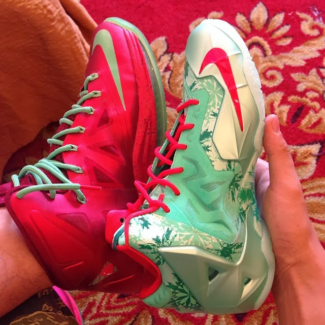 Lebron 11 Christmas Outfit Here's How Chrismas Ni...