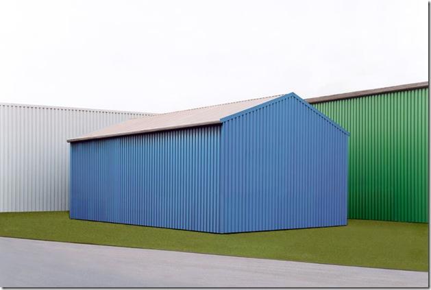 josef schulz_Hallen blau-grün,  (2001)