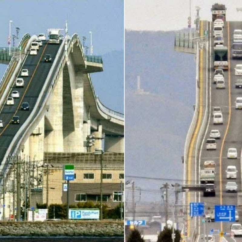 Eshima Ohashi Bridge in Matsue, Japan
