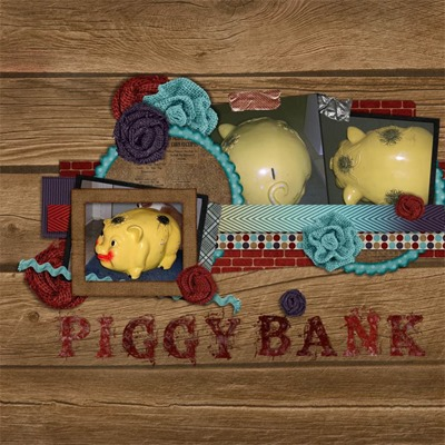 Leaving a Legacy Designs - Framed - Piggy Bank