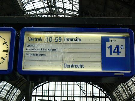 Gara Amsterdam: spre aeroportul Schiphol
