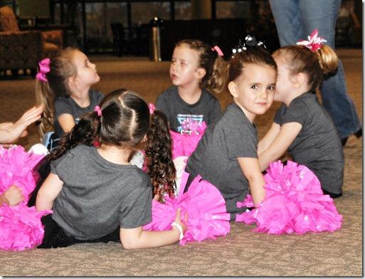 Hannah's First Cheerleading Game 022