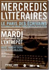 Les Mercredis Littraires : Le Paris des crivains le 27/09