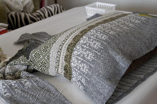 Fall DIY Sweater Pillows 8
