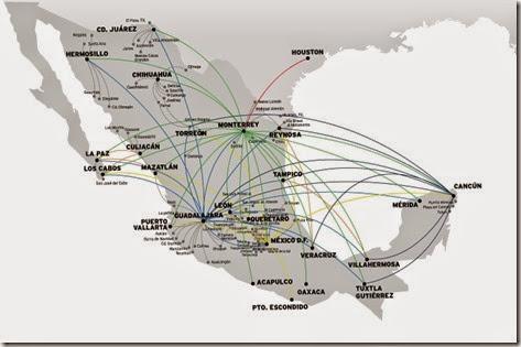 Vivaerobus destinos en Mexico y a Estados Unidos