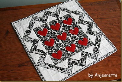 heart wall hanging by Anjeanette 2