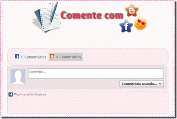 Comente com Facebook ou Blogger