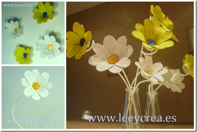Collage decora con flores recicladas 3