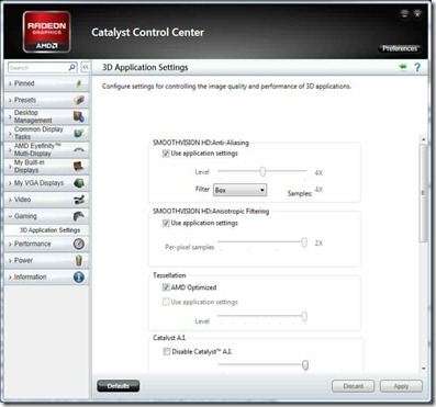 Catalyst Control Center Advanced View