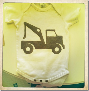 tow truck onesie