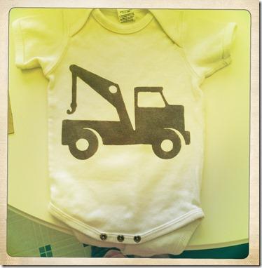 tow truck onesie
