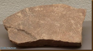 Placa grabada - cueva de Berroberria - Urdax