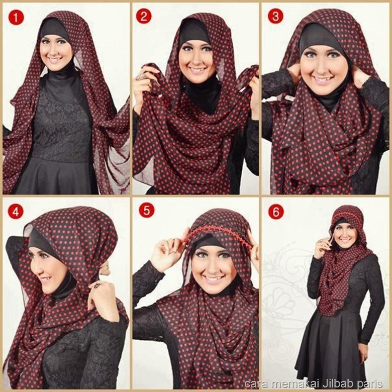 اموزش بستن شال متری Kreasi Cara memakai jilbab segi empat terbaru