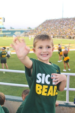 Nash's 1st day of School & Baylor Game 077