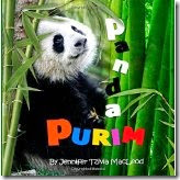 children's book cover:  Panda Purim, by Jennifer Tzivia MacLeod