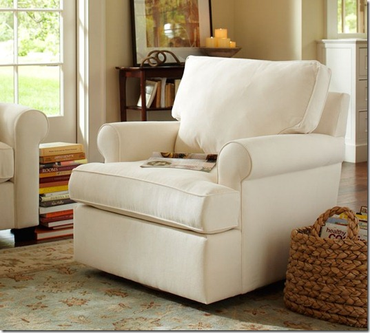 pottery barn swivel chair