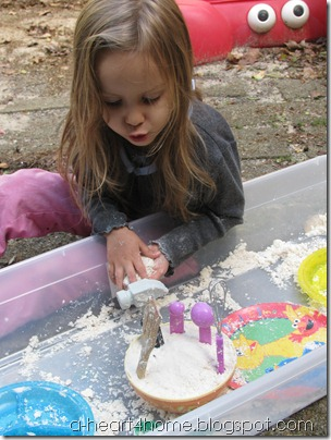 sensory play cloud dough