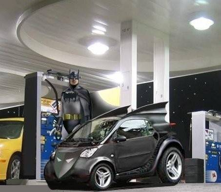 Batman with small car