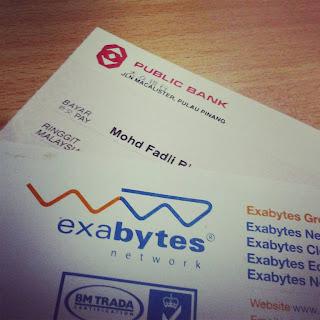 Terima Cek Kedua Dari Exabytes