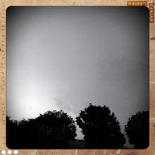 7. rainy skies