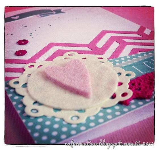 cafe creativo - Anna Draicchio - sizzix big shot - card - biglietto cuore feltro