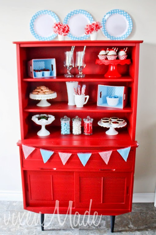 red white blue party