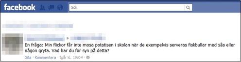 Mosad potatis på Facebook