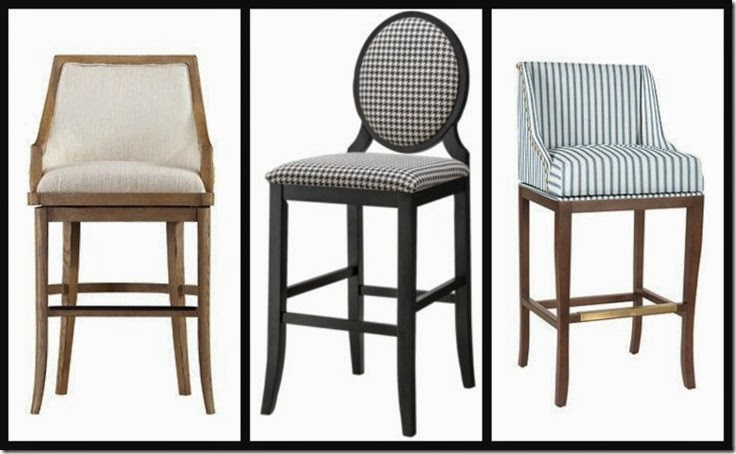 Ribbet collage barstools