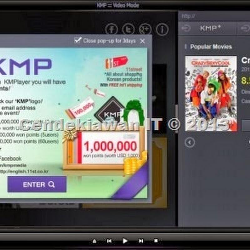 Cara Menghilangkan Iklan Pada KMPlayer