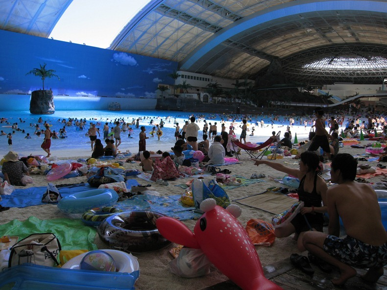 Seagaia Ocean Dome An Artificial Beach In Japan Miss D - Indoor man made beach japan incredible