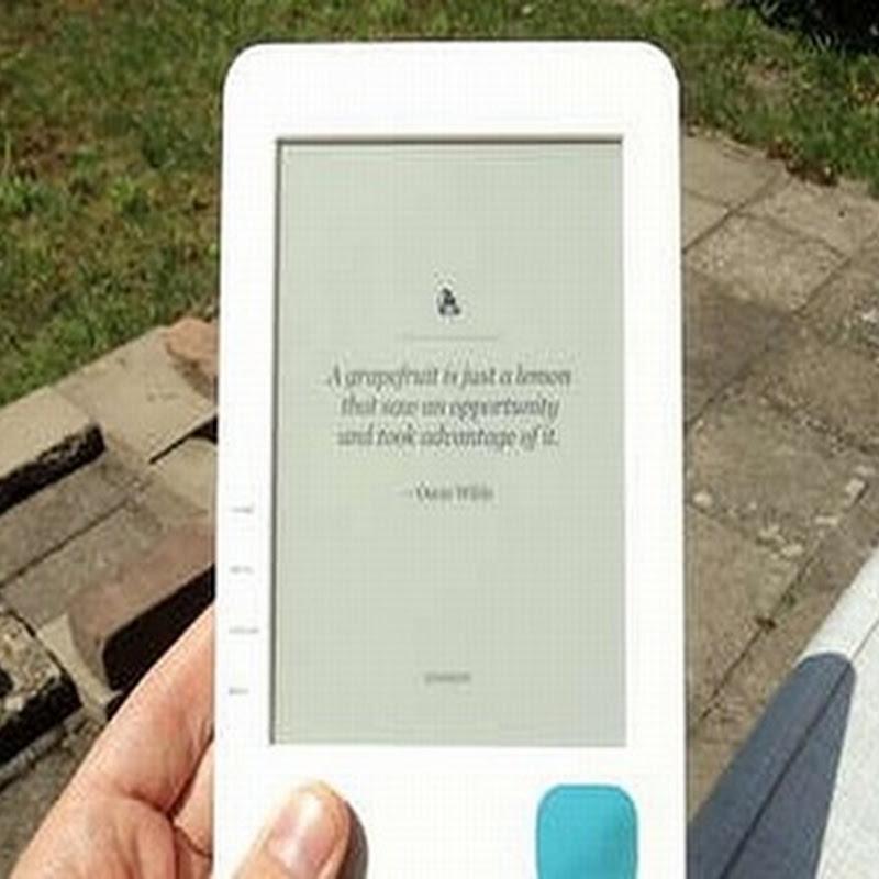 """e-Reader solar """"El Lector de libros electrónicos ahora recargable con energía solar"""""""
