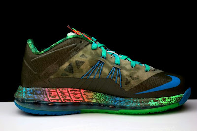 nike lebron 10 low gr black turquoise blue 2 13 Additional Look at Nike LeBron X Low Tarp Green