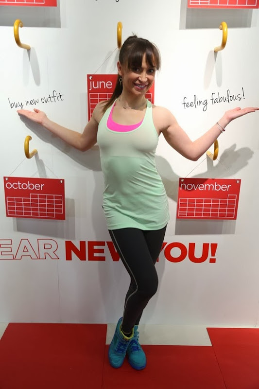 Karina Smirnoff feeling fabulous wearing Xersion Activewear at JCPenney's New Year, New You Fitness Event in SoHo