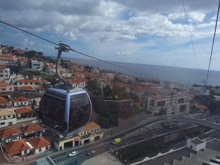Obiective turistice Madeira: teleferic Funchal