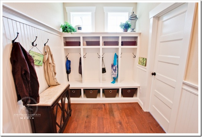 Mudroom - Decorating a Dream Home - www.sandandsisal.com