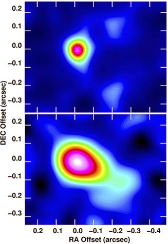 imagens da estrela W75N(B)-VLA2