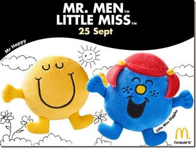 McDonalds X Mr. Men Little Miss -  Mr Happy and Little Miss Giggles