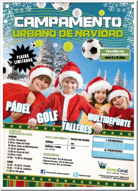 Campamento Urbano de Navidad Green Canal Golf 2012 para niños de 5 a 15 años.