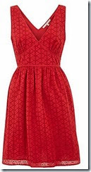 Uttam Boutique Broderie Anglais Red Dress
