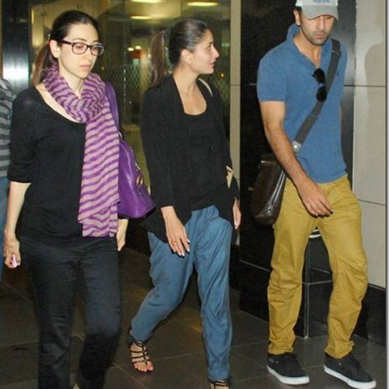 Ranbir,Kareena,Karishma spotted together!