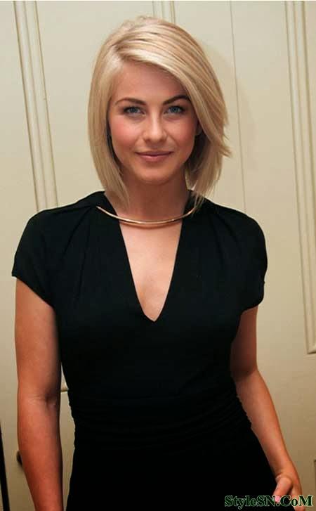 Short Blonde Asymmetrical Crop 2014 | Hairstyle FS