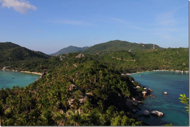 Chalok Baan Kao Bay and Thian Og Bay from John Suwan Viewpoint at Koh Tao