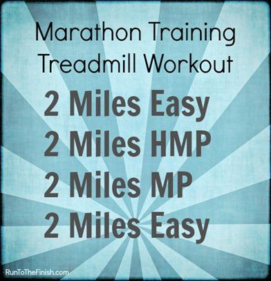 Marathon Training Treadmill Workout