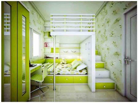 Lime-Green-Room-at-Modern-Inspiration-Kids-Room-Design-Ideas