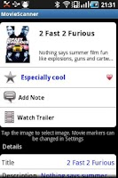 Screenshot of MovieScanner FREE