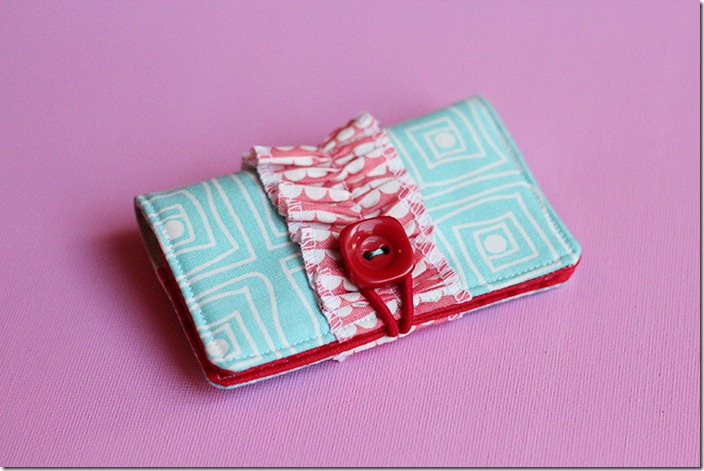 Finished Ruffled Card Holder