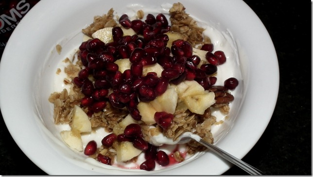 POM Wonderful Arils with granola and yogurt